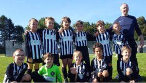 Cambourne FC U10s sponsored by Prior Scientific