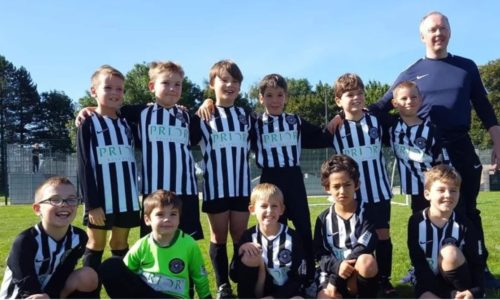 Cambourne FC U10s sponsored by Prior Scientific