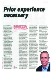 Tom Freda's interview with Microscopy & Analysis